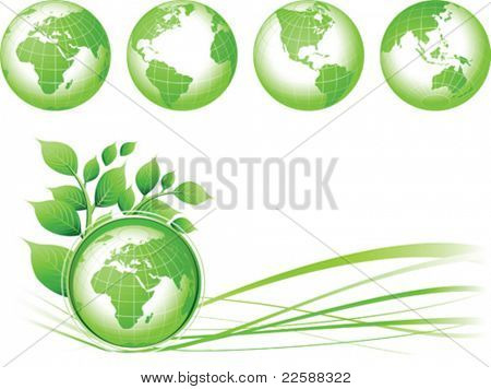 Green Earth background, vector illustration. Base map generated using map data from the public domain. (www.diva-gis.org)