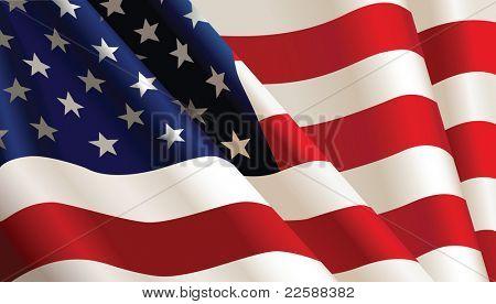 US-amerikanische Flagge, Farbe Abbildung