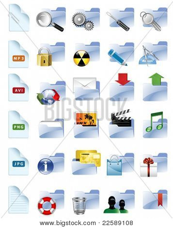 Set of Internet and multimedia icons. All elements are individual objects. Vector illustration scale to any size.