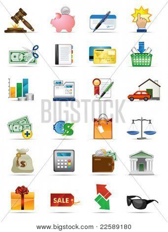 Serie de iconos de vector. Todos los elementos y texturas son objetos individuales. Escala de la ilustración a cualquier siz