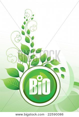 Eco background. All elements and textures are individual objects. Vector illustration scale to any size.