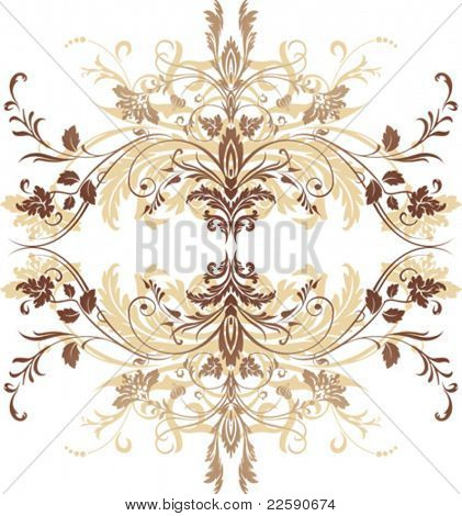 Element for seamless pattern. All elements and textures are individual objects. Vector illustration scale to any size.
