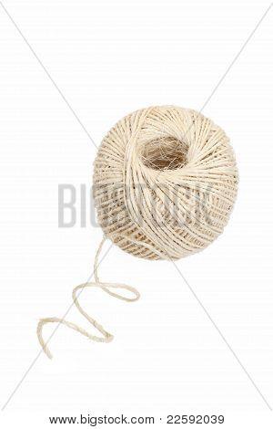 ovillo de hilo de lino