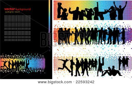 Spectrum abstract background. All elements and textures are individual objects. Vector illustration scale to any size.