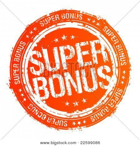 Super bonus vector rubber stamp.