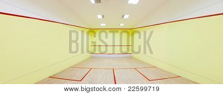 Panorama shot for an Empty squash court