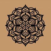 Mandala Vector Clipart, Black Mandala Banner, Mandala Pattern poster