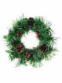picture of christmas wreath  - Christmas wreath isolated on a white background - JPG