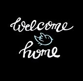 Hand Drawn Doodle Lettering Poster - Welcome Home poster