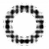 Circle Donut Halftone Effect, Vector Circle Donut For Comic Book Manga Anime Halftone Effect poster