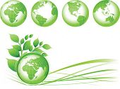 Green Earth background, vector illustration. Base map generated using map data from the public domai