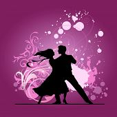 stock photo of ballroom dancing  - Ballroom dancers - JPG