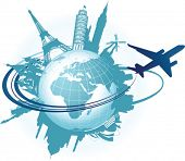 picture of world-globe  - Travel background - JPG