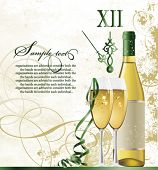 stock photo of champagne glass  - New Year - JPG