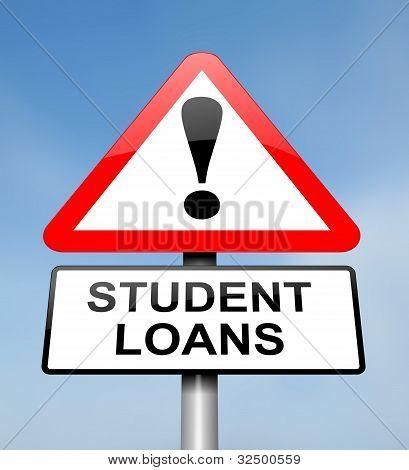 Estudante empréstimos aviso.