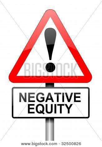 Negative Equity Concept.