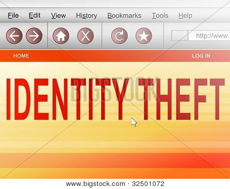 Concepto de robo de identidad.