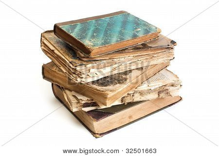 An Old Book With A Crumpled Sheet