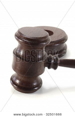 Judges Gavel Of Wood