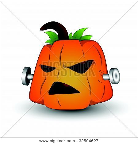 Vector Illustration of Spooky Jack O Lantern