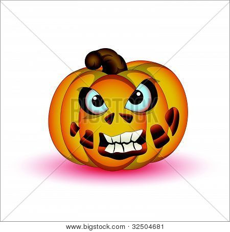 Horrible Halloween Pumpkin Vector