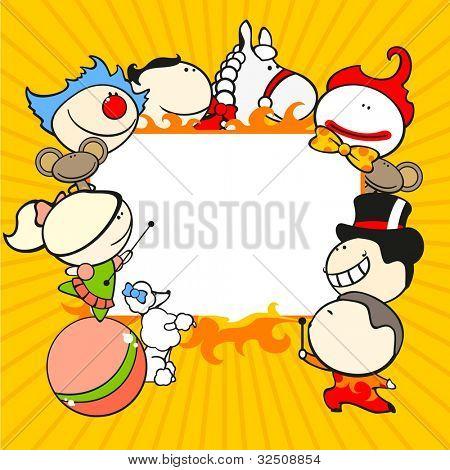 Circus background (raster version)