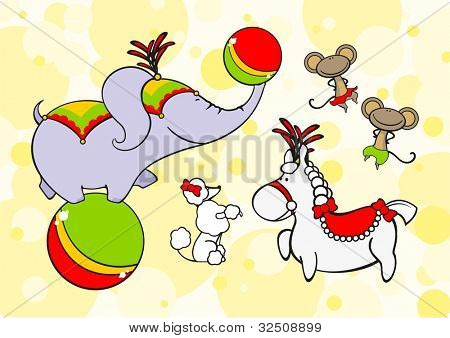 Circus animals (raster version)