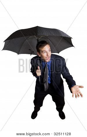 Businessman with umbrella