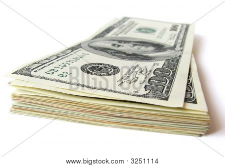 Stack Of $ 100 Bills