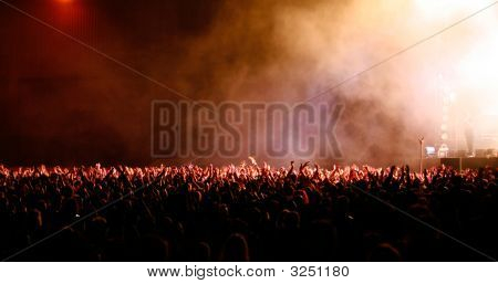 Big Crowd At Music Festival