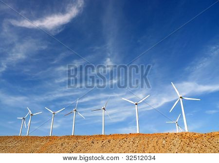 Wind Turbines, Palm Springs, California, USA