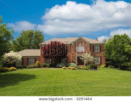 Brick Suburban Home