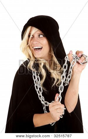 Woman Cloak Chain Smile Back