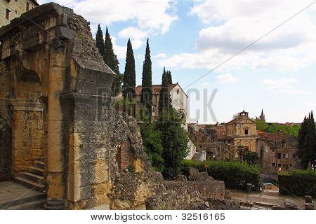 Ruins Of Roman Theatre In Verona, Italy