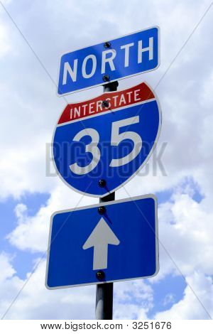 Highway 35 Road Sign