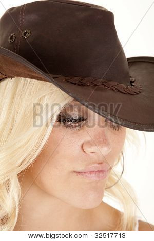 Cowgirl Headshot Look Down