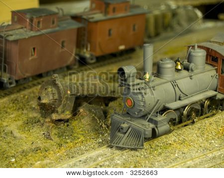 neue polierte Zug neben einem junker