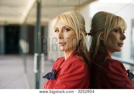 Beautiful Blonde Businesswoman