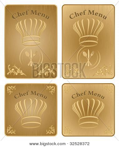Chef Menu Cover Or Board - Vector Set 1