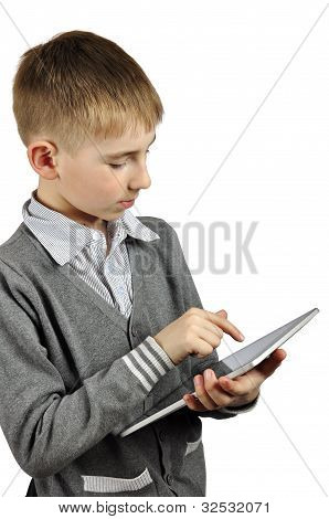 Boy With Touch Screen Device