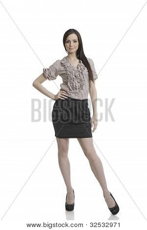Attractive business woman standing