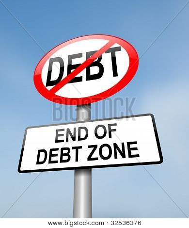 Debt Free Zone.
