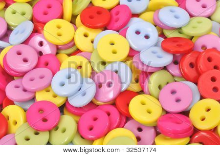 Brightly Colored Clothing Buttons