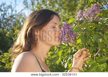 Smelling A Lilac