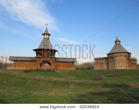 Moscow. Manor Kolomenskoe. The tower of St. Nicholas Monastery and Korelsky Mokhovaya Tower