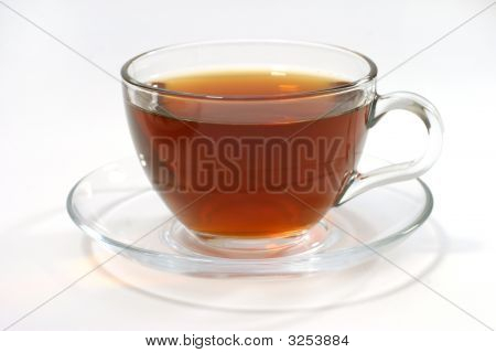 Hot Tea Inside Transparent Glass