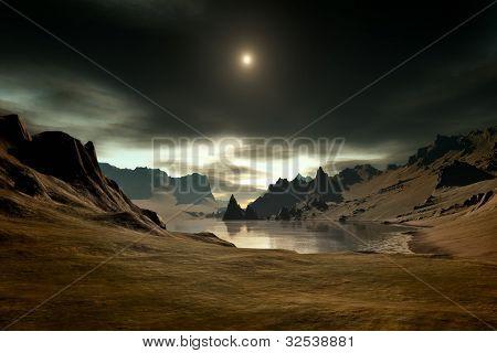 An image of a nice fantasy landscape