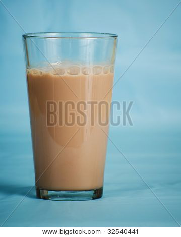 Low-fat chocolate milk in half-gallon carton isolated on white