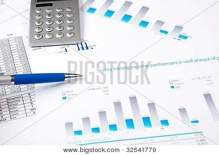 charts, documents, blueprint