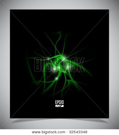 abstract energy formation - green theme